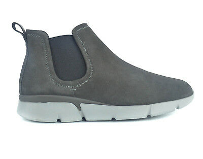 NEW Santoni Mens Suede Grey Stitched Chukka Ankle Boots Size 8.5 US 9.5 RTL$695
