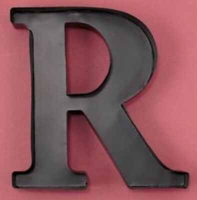 "Monogram Letter ""R"" Wall Wine Cork Holder in Black Metal. LDI. Free Delivery"