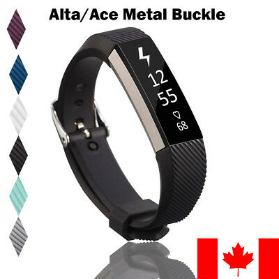 For Fitbit Alta HR ACE Band Replacement Metal Buckle Wrist Silicone Smart Watch