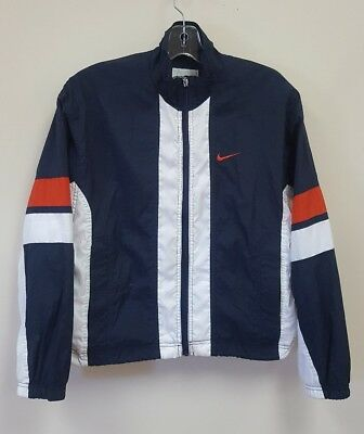 0eb765c57f Vintage Nike Windbreaker Light Jacket Size Youth Small White Navy Blue