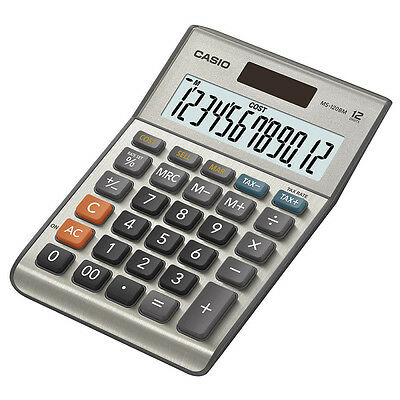 Casio MS-120BM Solar 12-Digit Large Display Desk Business Tax VAT Calculator New