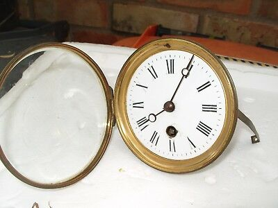 Clock Parts  Dial Bezel Glass Complete  Time Piece Good  Parts Working