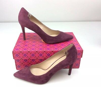 d5a02d7283cc Tory Burch Elizabeth 85MM Port Royal Suede Pumps Heels size 10 M Stiletto