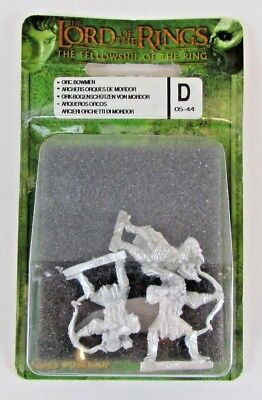 Games Workshop LOTR Orc Bowmen OOP 05-44D Lord of The Rings Blister FREE SHIP