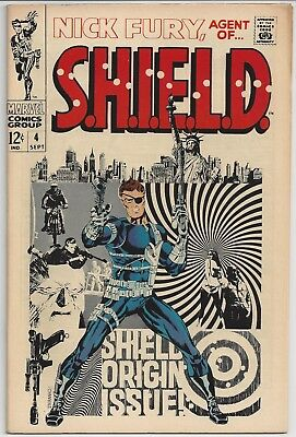 Nick Fury Agent of Shield (1968) # 4 FN / VF