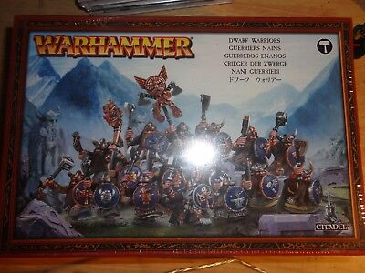 Warhammer Dwarf Warriors Fantasy Battle Age of Sigmar New in Box Games Workshop
