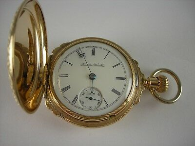 9520fb1de72cd7 Antique Early 18s Hamilton 929 Gold Filled Hunter case pocket watch. Made  1898