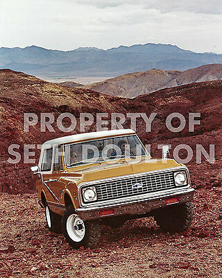 "1972 Chevrolet Blazer SUV Sedona Arizona photo vintage print ad16"" X 20"" poster"
