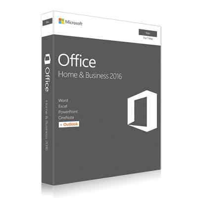 Microsoft Office 2016 Home and Business For Mac 1 User Key Card English