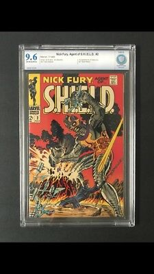 Nick Fury #2 (1968) Steranko Cover Cbcs Nm+ 9.6 Ow/w Sharp Copy!