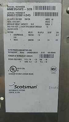 scotsman nugget ice machine chute with laser eye bin switch
