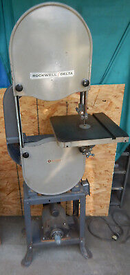 "Delta Rockwell 14"" Band Saw Wood Cutting Bandsaw Rough But Works"