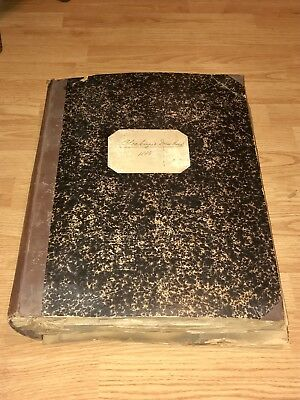 Antique Victorian Era Wool Fabric Sample Swatch Book Tailor  1886 Reference