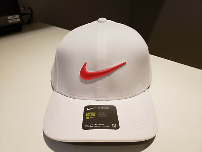 c37e1a9b96a NIKE CLASSIC 99 Performance Golf Cap 2017 White Anthracite Siren Red ...