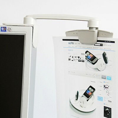 Paper Holder Monitor Clip Document Clip One Touch LCD Display Clip Bracket
