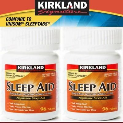 Kirkland Signature Sleep Aid sleepaid Doxylamine Succinate 25 mg 192 Tablets