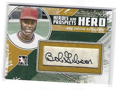 2011 In The Game Heroes And Prospects Bob Gibson AUTO