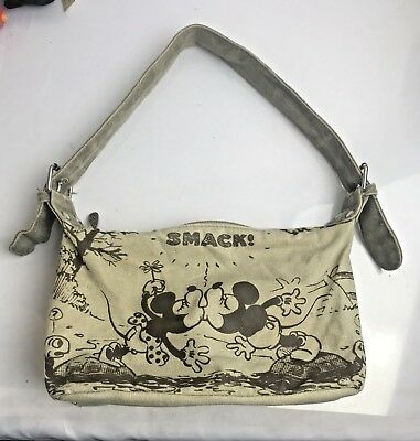 Vintage Smack! Disney Mickey-Minnie Kissing Purse Early Animation 10x6