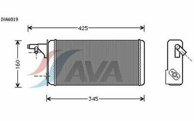 AVA COOLING SYSTEMS Radiateur de chauffage Pour IVECO DAILY IVA6019