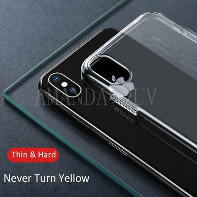 For iPhone X XS Case Cover Apple Transparent Clear Hard Ultra Thin 0.3mm Skin