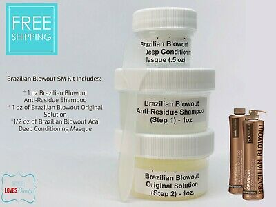Brazilian Blowout Professional Hair Smoothing Solution- Sm Kit w/ Gift (DIY)