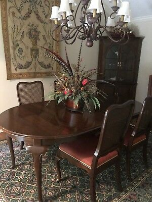 Ethan Allen Georgian Court Cherry Dining Room Set 6 Chairs Table China Cabinet