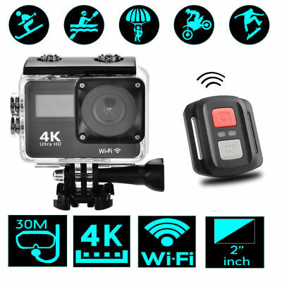 2inch Full HD 1080P 4K 18MP Cameras Waterproof WiFi Sports Action Remote Control