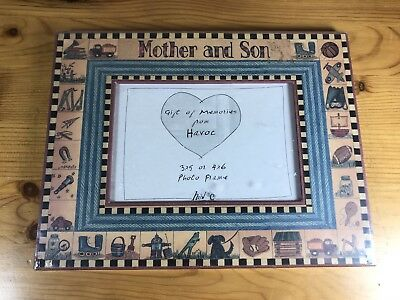 "Mother And Son 3""x5"" Photo Frame Havoc Linda Spivey Penny Lane Birth Baby Boy"