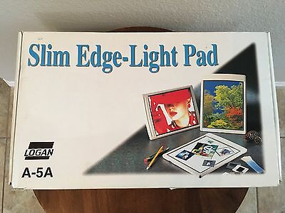 """Logan (A-5A) Electric 8 x 10"""" Slim-Edge Light Pad - Good Pre-owned Condition"""