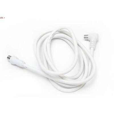 1.5m White TV Antenna Cable PAL Male to Male Aerial Flylead Fly Lead Coax