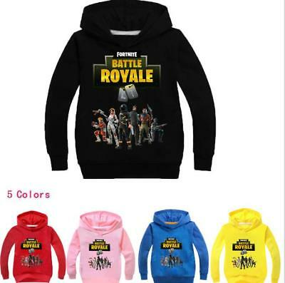 Kids Hoodie Fortnite Battle Royale Boys Sweatshirt Jacket Clothing 2-11Years