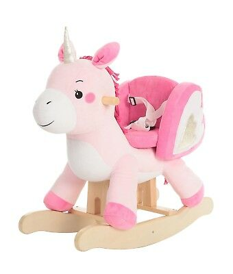 Child Rocking Horse Toy, Pink Rocking Horse Plush, Unicorn Rocker Toy