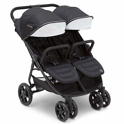 J is for Jeep Brand Destination Ultralight Side x Side Double Stroller, Midnight