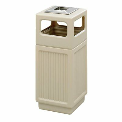 Safco Canmeleon Recessed Panel Ash Urn Side, Tan