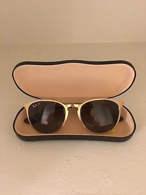 cbae5d45bc3 RAY BAN ERIKA Metal RB3539 112 T5 Matte Gold   Brown Polarized 54mm  Sunglasses