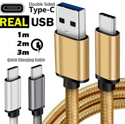 Type-C USB-C 3.1 Male Data Snyc FAST Charger Charging Cable Fo Samsung Galaxy S9