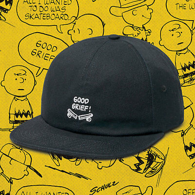 3f5b4e691c8 Van s Off the Wall Peanuts Charlie Brown Baseball Cap Hat Adjustable OSFM  Black