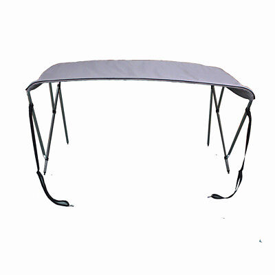 """3 Bow Bimini Top Boat Tent Cover with Rear Support Pole 6' L x 46""""H x 61""""-66""""W"""