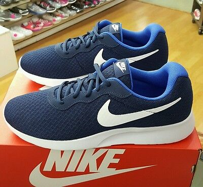 0c8fb034a0e MENS NIKE TANJUN Running Trainer Shoes Midnight Navy White-Game ...