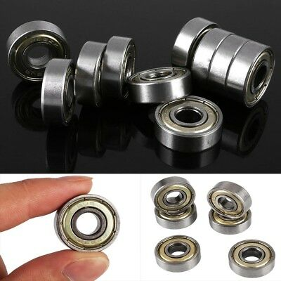 10 Pcs 608zz Carbon Steel Deep Groove Ball Bearing 8x22x7mm Skateboard q