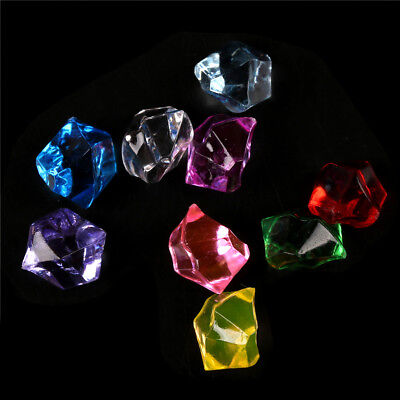 Acrylic Crystal Gem Stone Ice Rocks Table Scatter Confetti Vase Filler 150pcsPB