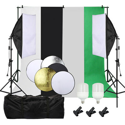 Photography lighting kit Photo Video Studio 28W LED Lamp Softbox Light Stand