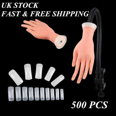 Adjustable Practice Nail Art Trainer Hand Tool Training Model +500 Gel Tools UK