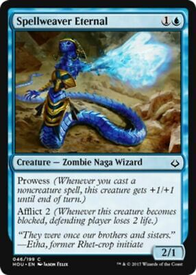 4x MTG: Spellweaver Eternal - Blue Common - Hour of Devastation - HOU