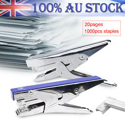 Heavy Duty Handheld Bookbinding Stapling Capacity Metal Stapler W/ 1000-Staples