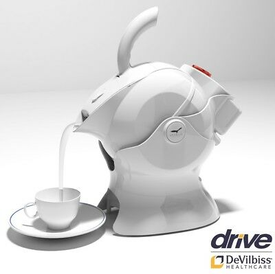 White Ergonomic Uccello Kettle Tipper Disability Tipping Aid Safely Pourer