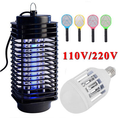 Electric 110V/220V Light Mosquito Lamp Killer Fly Bug Insect Zapper Trap swatter