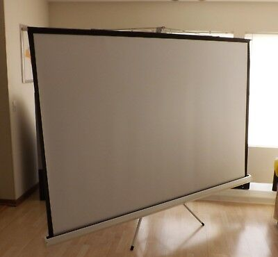 "Antra PST-120B 120"" 4:3 projection screen with tripod stand"
