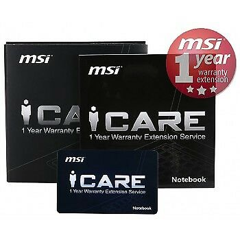 Warranty Card 1 Anno Di Estensione Di Garanzia X Notebook Gaming Msi