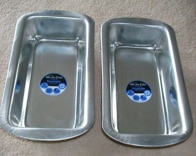 2 X 2Lb Deep Loaf Tin Pan Traditional Tin Oven Bakeware Cake Baking Bread Dish